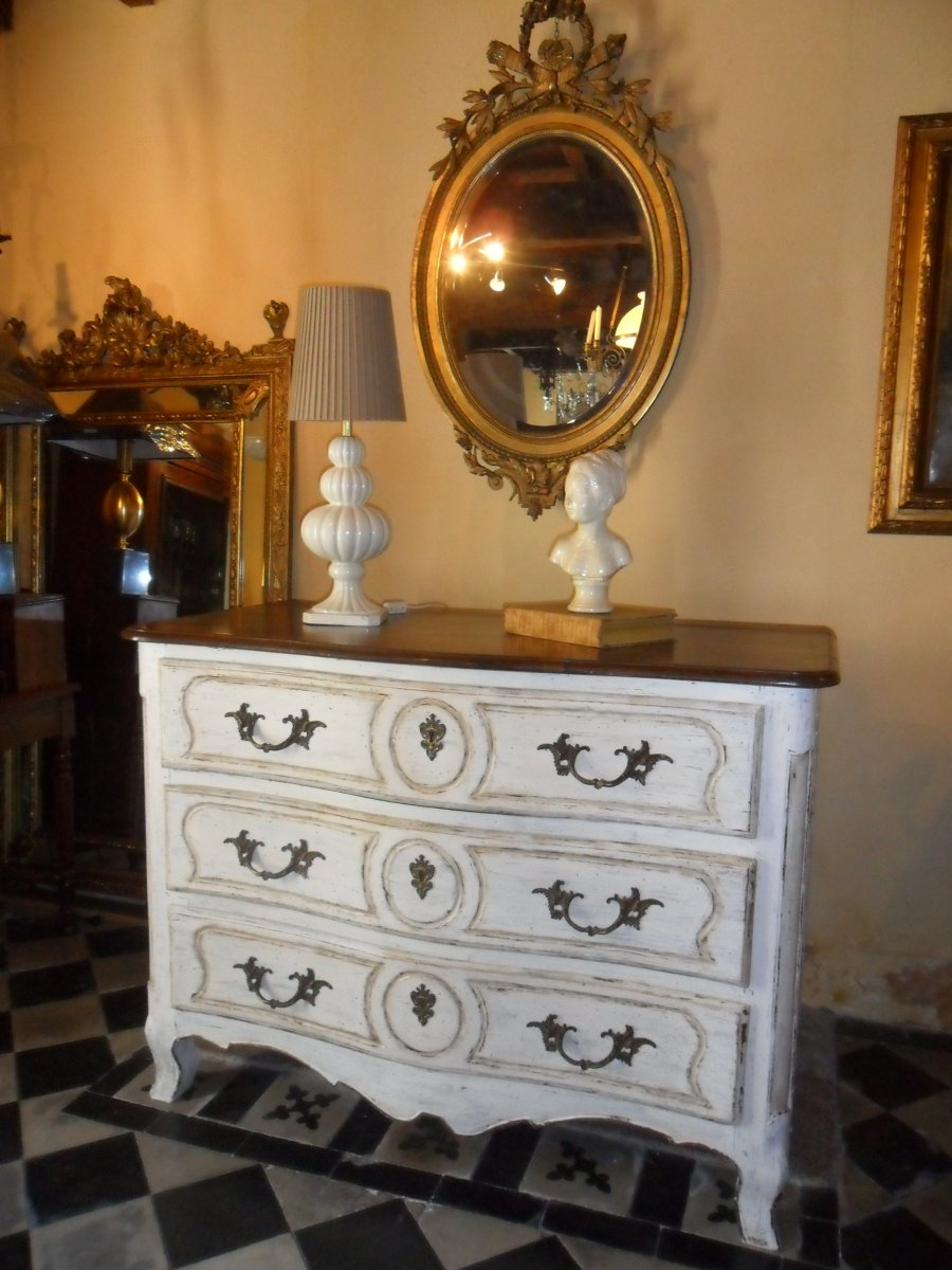 Great Painted Commode Louis XV Eighteenth