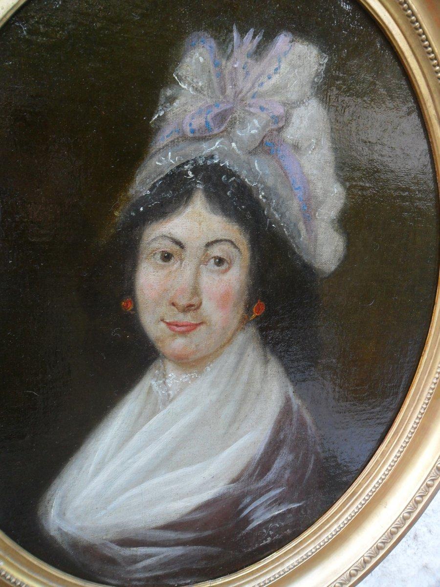 Portrait De Jeune Femme Du 18ème-photo-2