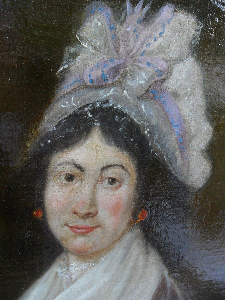 Portrait De Jeune Femme Du 18ème-photo-1