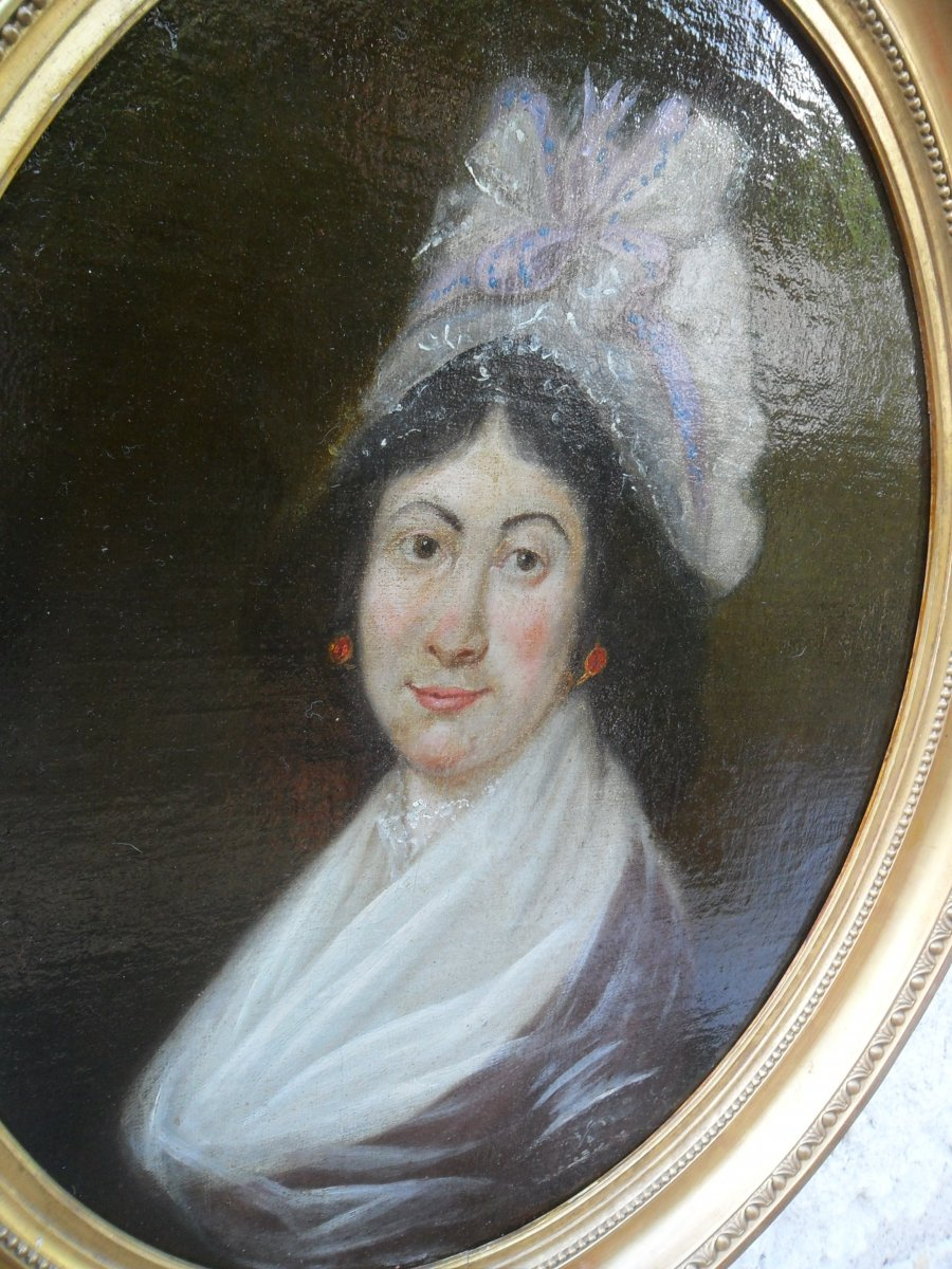 Portrait De Jeune Femme Du 18ème-photo-3