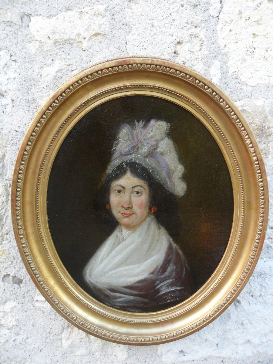 Portrait De Jeune Femme Du 18ème