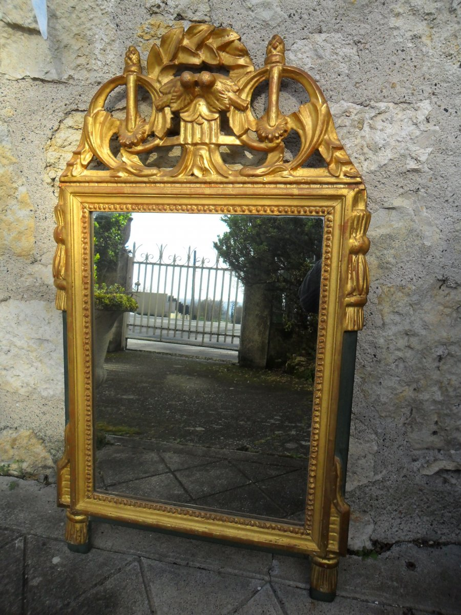 Mirror In Golden Wood Louis XVI 18th