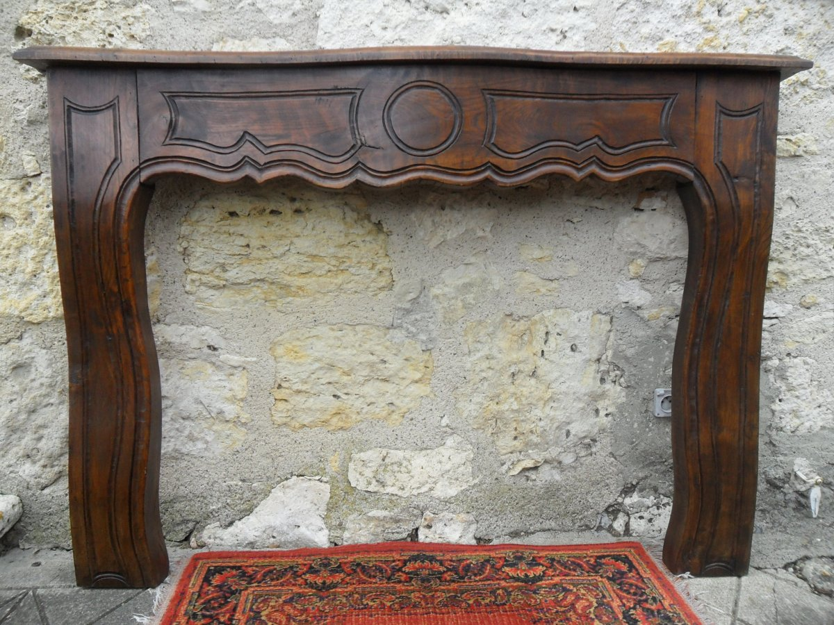 Louis XV Style Fireplace In Elm