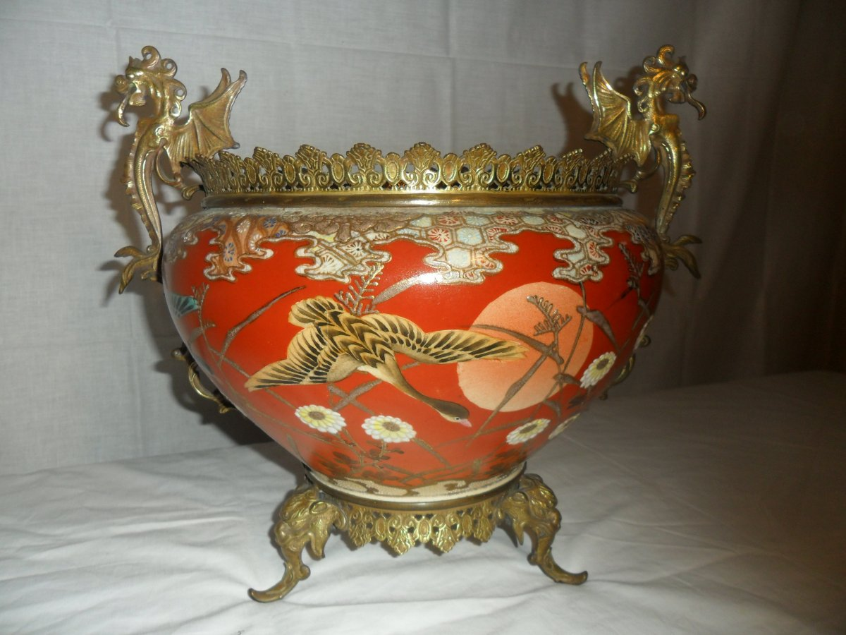 19th Century Chinese Porcelain Cache Pot