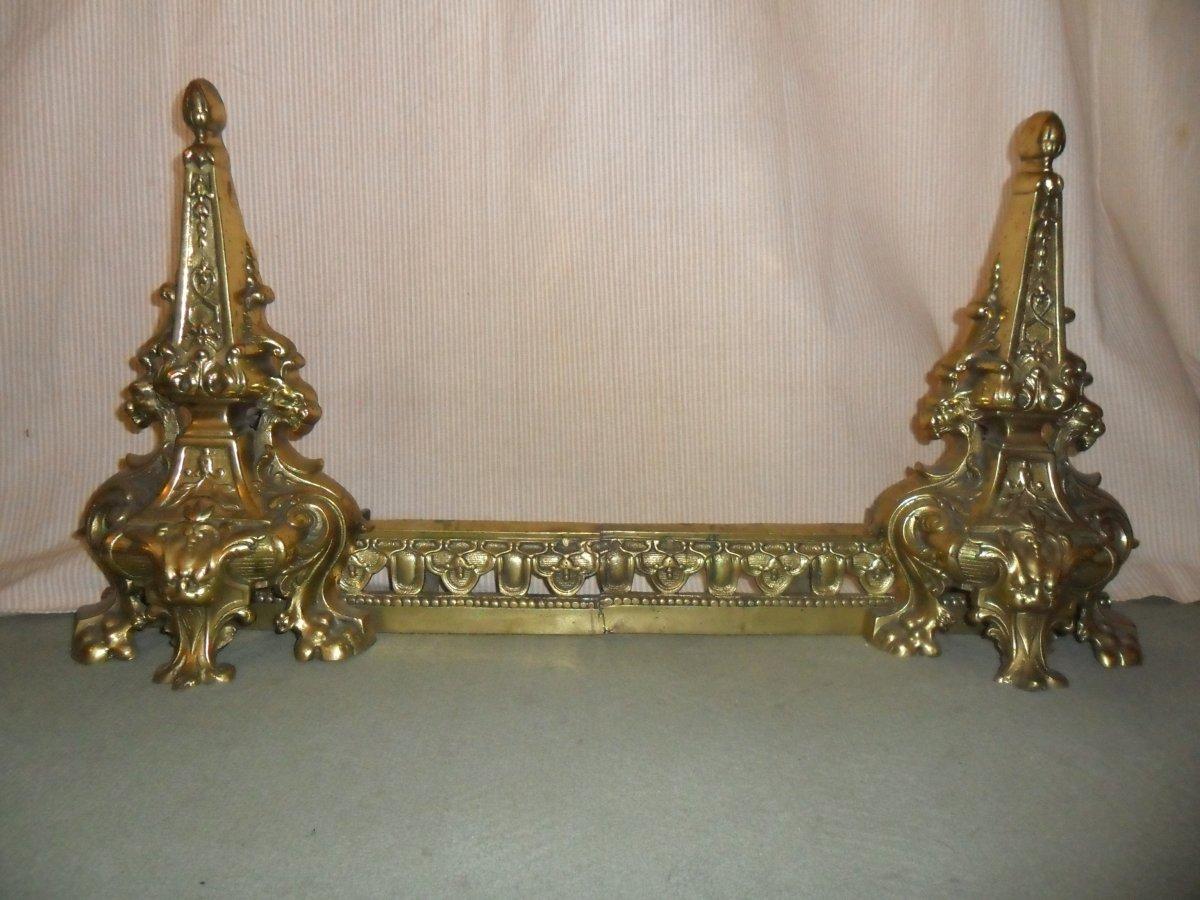 19th Century Gilt Bronze Fireplace Front