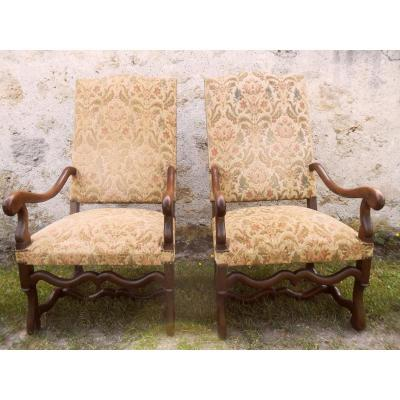 Pair Of Armchairs Louis XIV