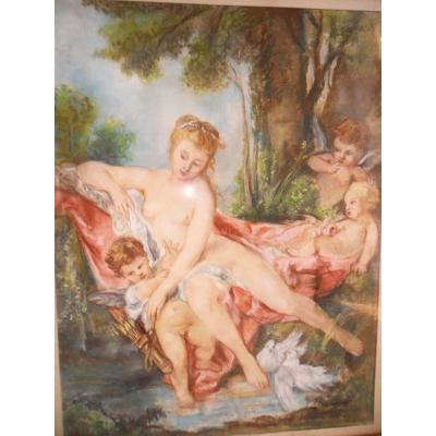 "Pastel ""venus Consoling The Love Of After Boucher"""