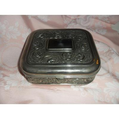 Silver Bronze Art Deco Gift Box