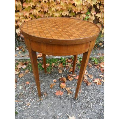 Inlaid Pedestal Table