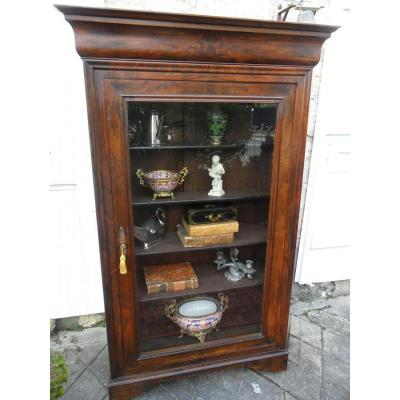 Showcase Louis-philippe Nineteenth Walnut