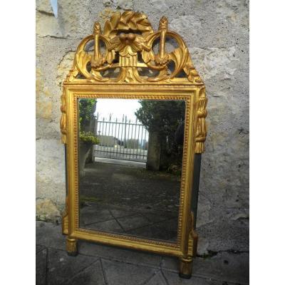 Miroir En Bois Doré Louis XVI  18ème