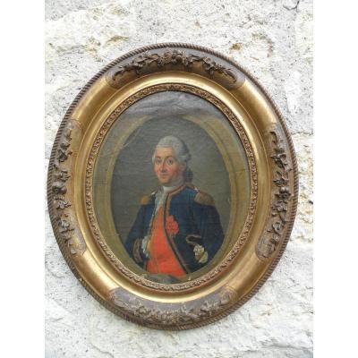 Portrait d'Un Amiral De La Fin Du 18ème.