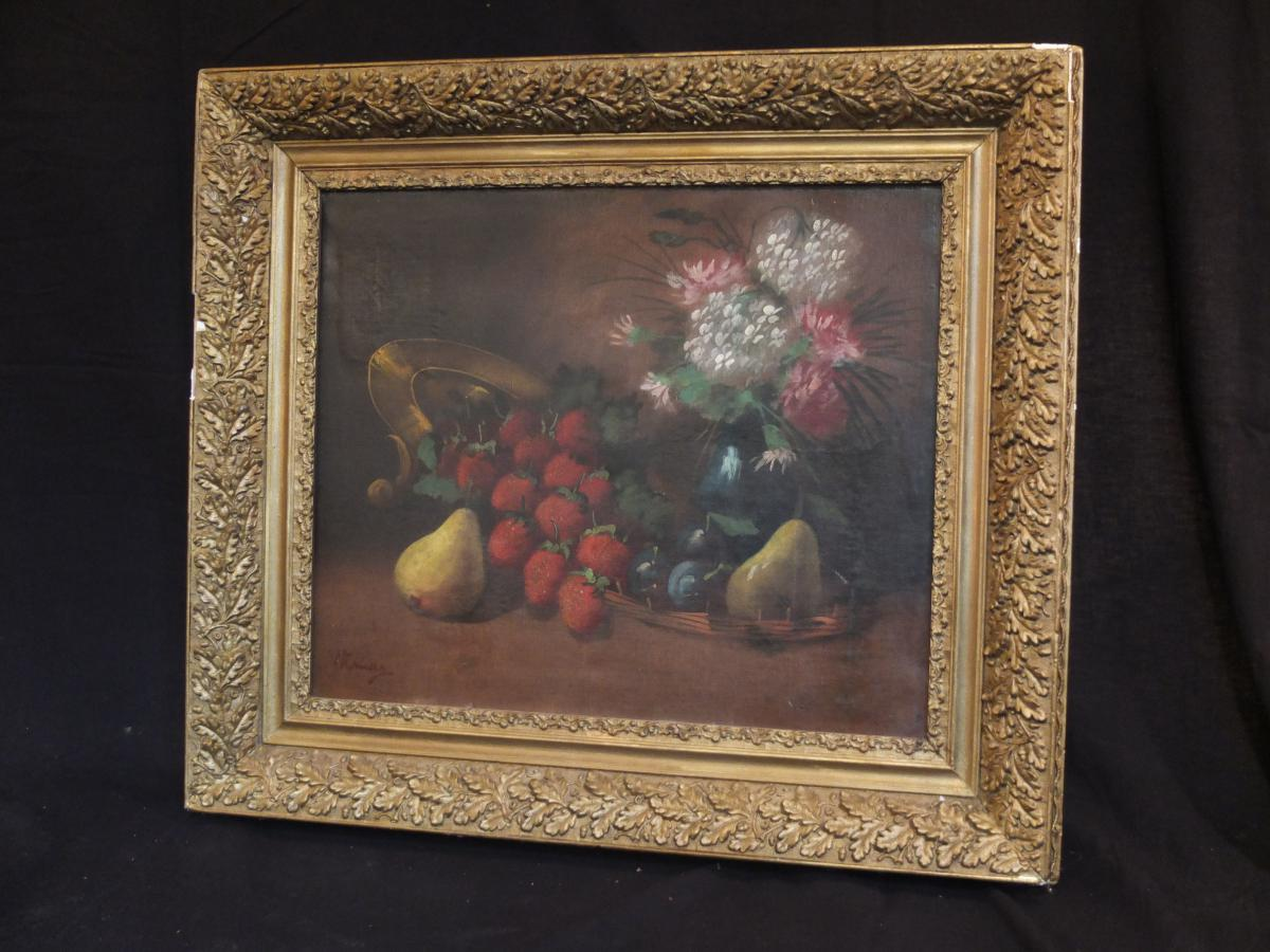 """Oil On Canvas Still Life Signed """"weimar""""?"""
