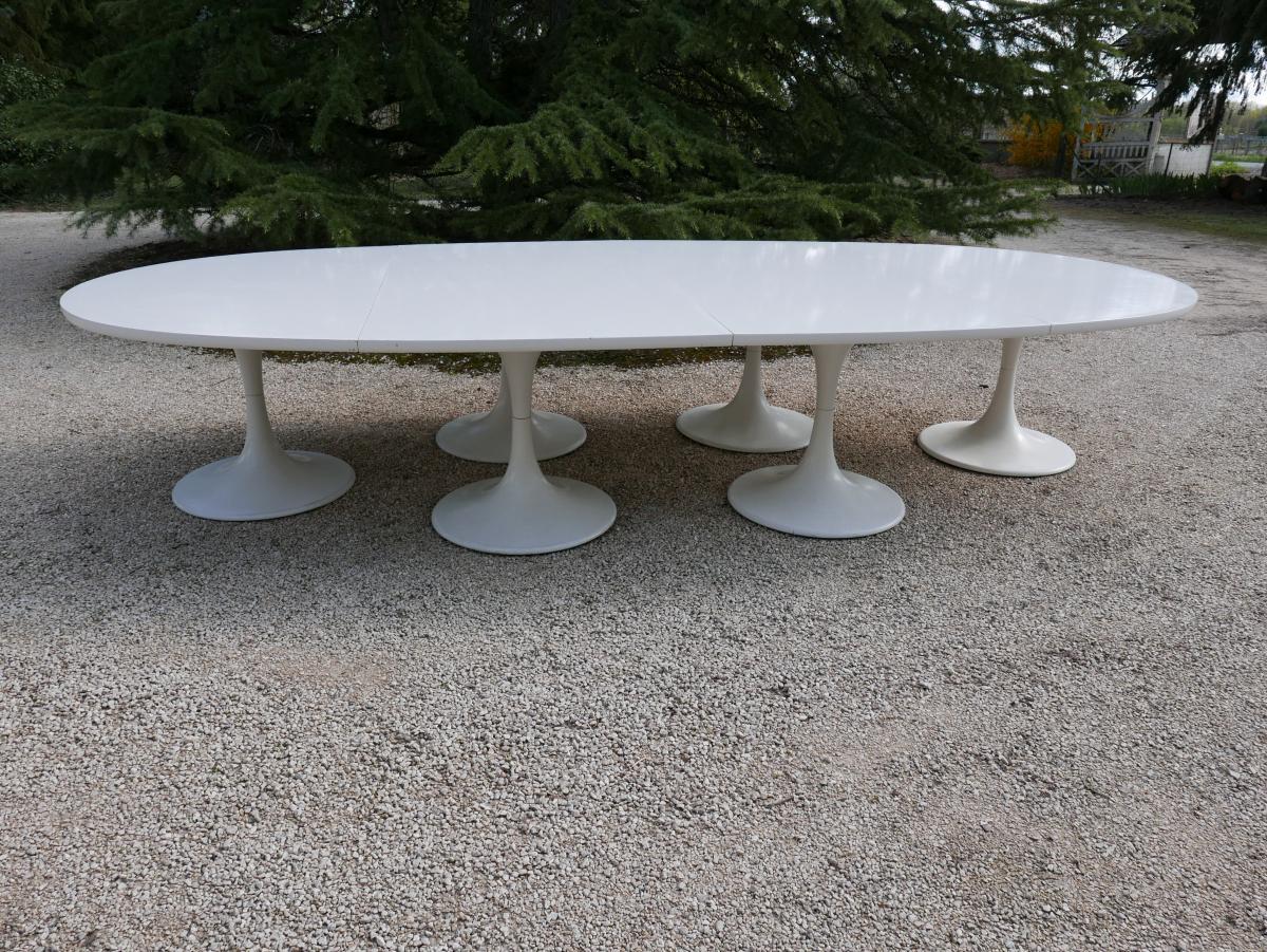 Table De Conférence d'Apres Le Desing De Eero Saarinen Vers 1970