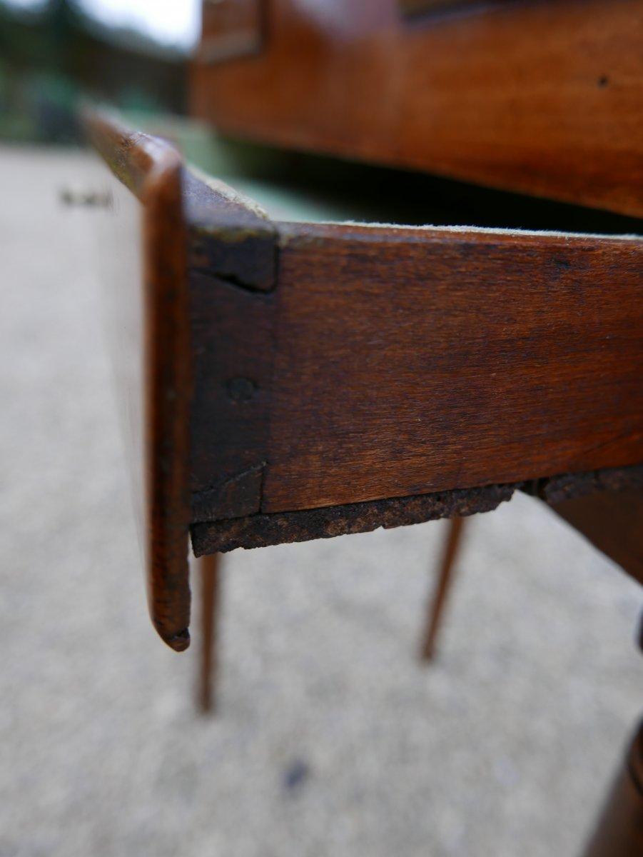 Petite Coiffeuse Directoire Fin 18 ème En Hêtre-photo-1