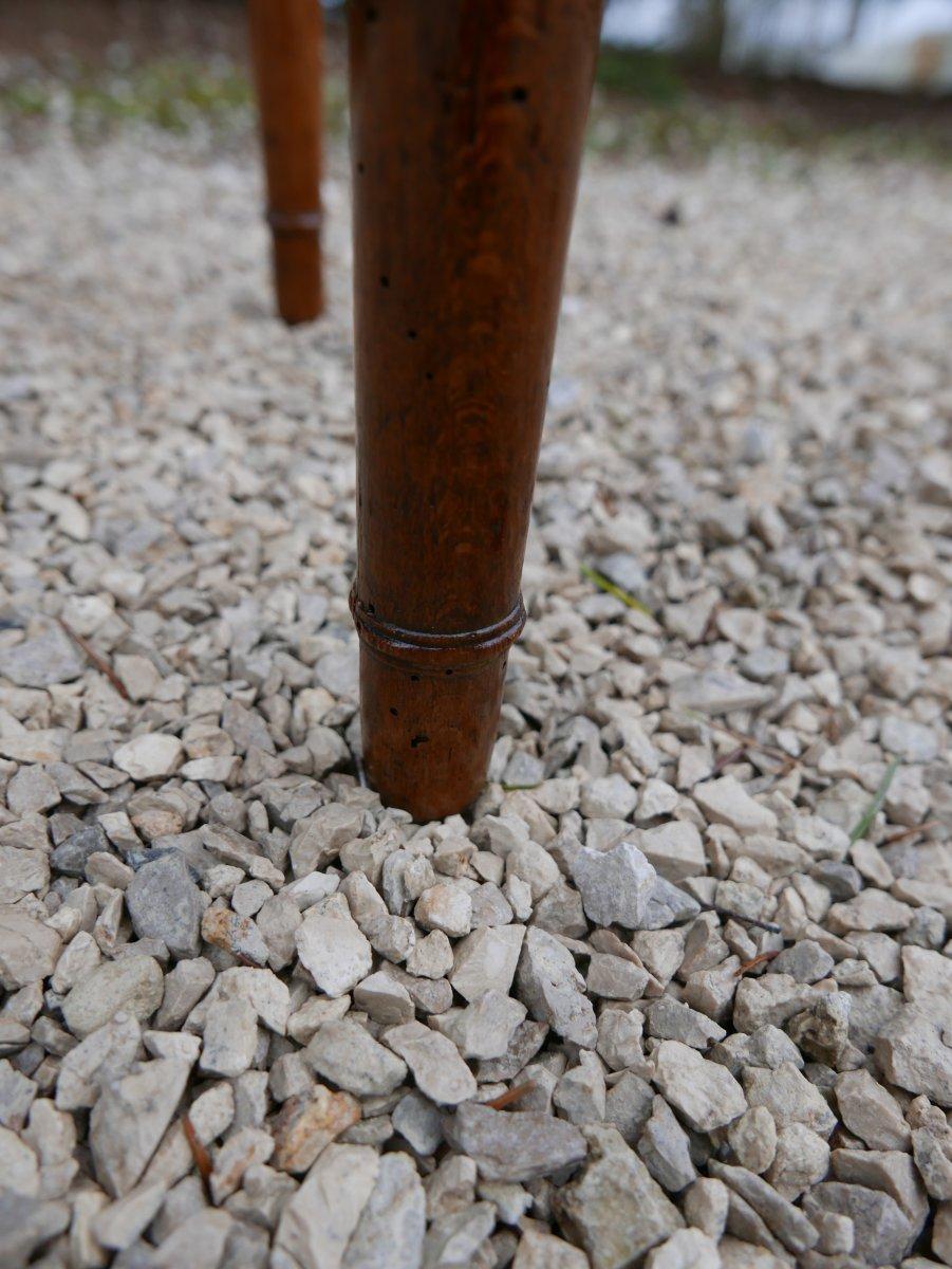Petite Coiffeuse Directoire Fin 18 ème En Hêtre-photo-3