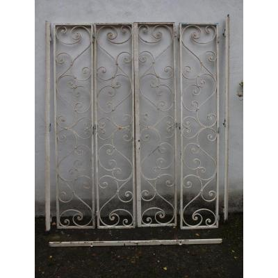Set Of Art-deco Wrought Iron Grills