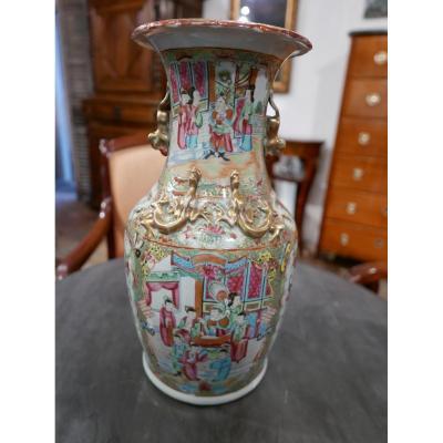 19th Century Canton Porcelain Vase