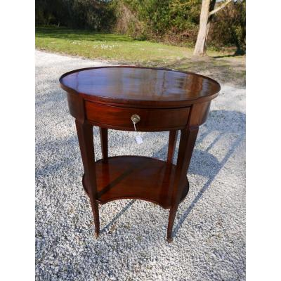 Pedestal Table Directoire Period Mahogany