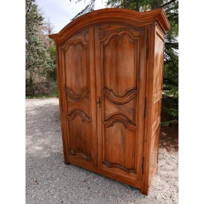 Parisian Wardrobe In Blond Walnut. Stamped From Martiny 18th Time