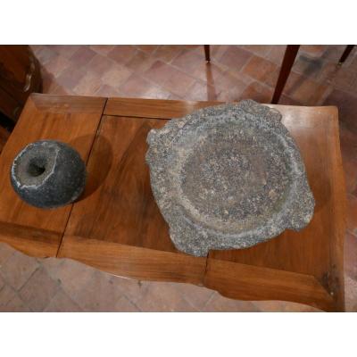Granite Mortar And Its Pestle