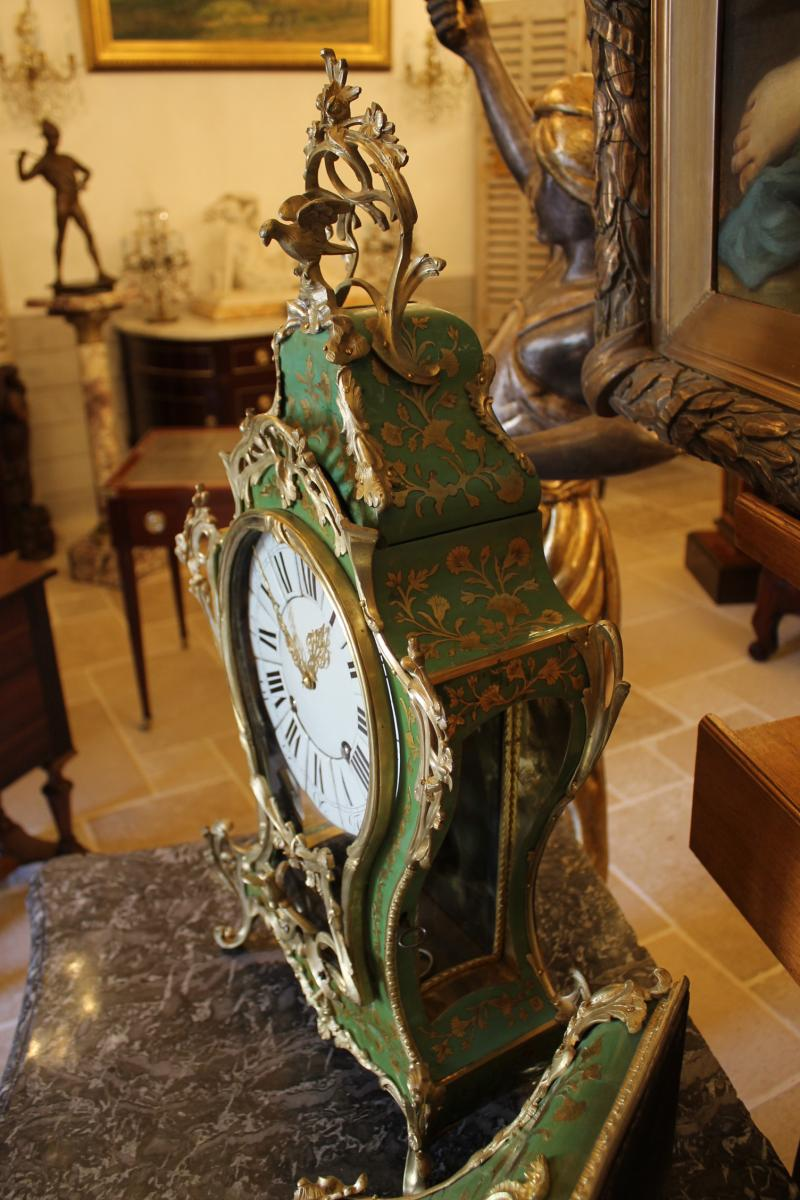 Cartel Et Sa Console En Corne Verte, époque Louis XV-photo-1