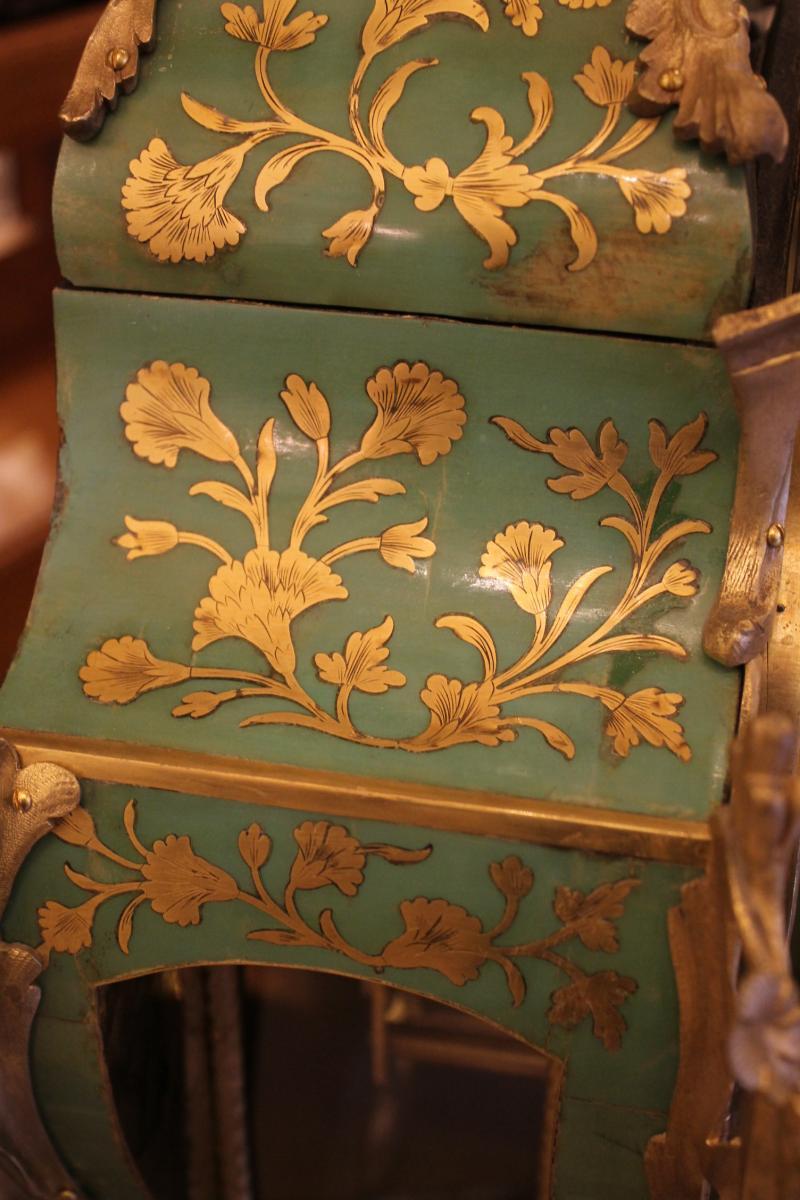 Cartel Et Sa Console En Corne Verte, époque Louis XV-photo-2