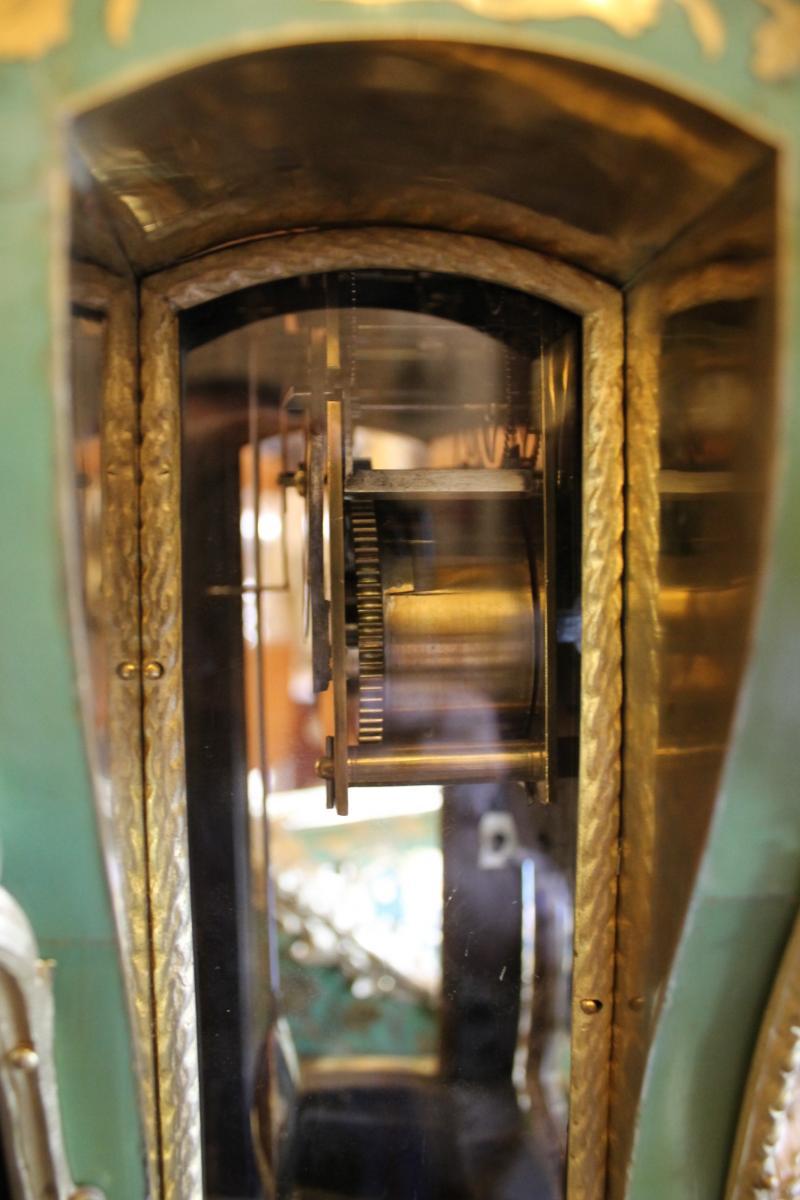 Cartel Et Sa Console En Corne Verte, époque Louis XV-photo-7