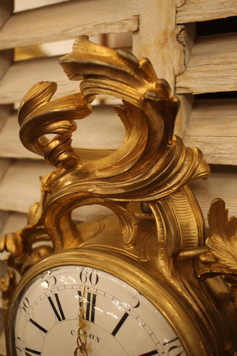 Cartel Louis XV En Bronze Doré-photo-4