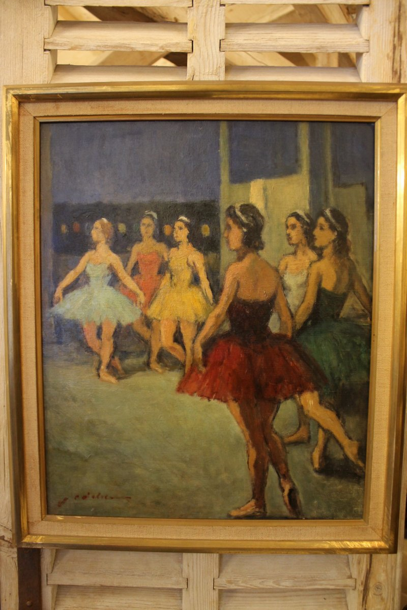 Les Danseuses, Peinture De Charles Emmanuel Jodelet