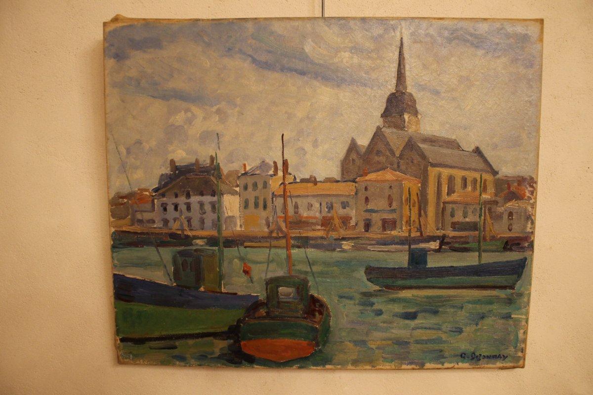 Saint Gilles Sur Vie Peinture De Guy Dezaunay