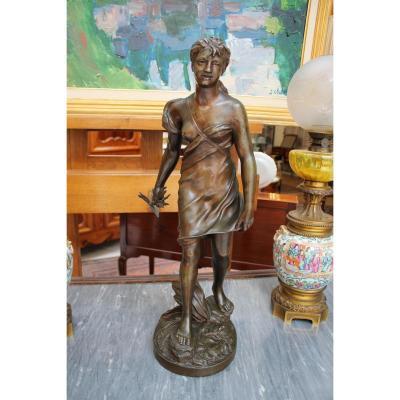 Sculpture En Bronze Par Joseph Osbach