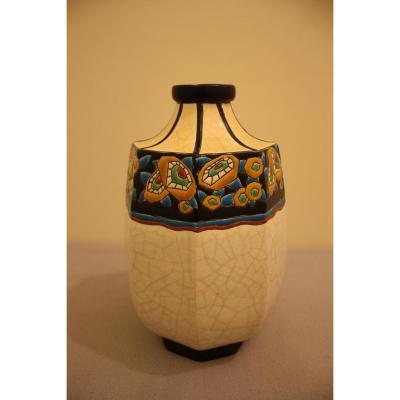 Longwy Vase Art Deco