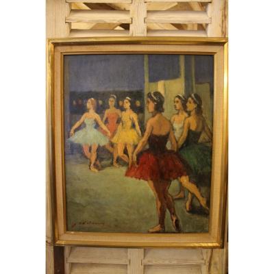 The Dancers, Painting By Charles Emmanuel Jodelet