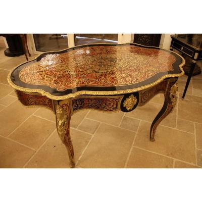 Table Violon En Marqueterie Boulle d'époque Napoléon III