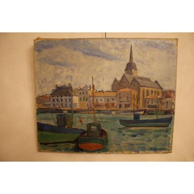 Saint Gilles Sur Vie Painting De Guy Dezaunay
