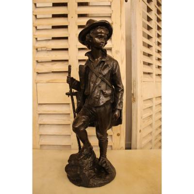 Jeune Musicien, Bronze d'Emile Victor Blavier (XIX-XX)