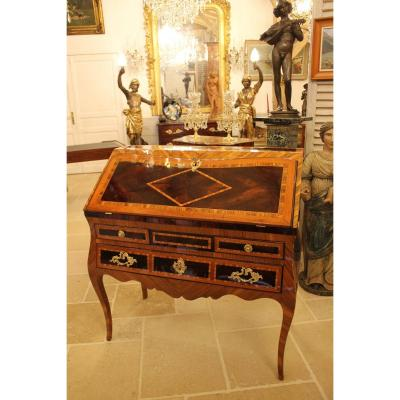 Inlaid Slope Desk, Work From Dauphiné, Louis XV Period