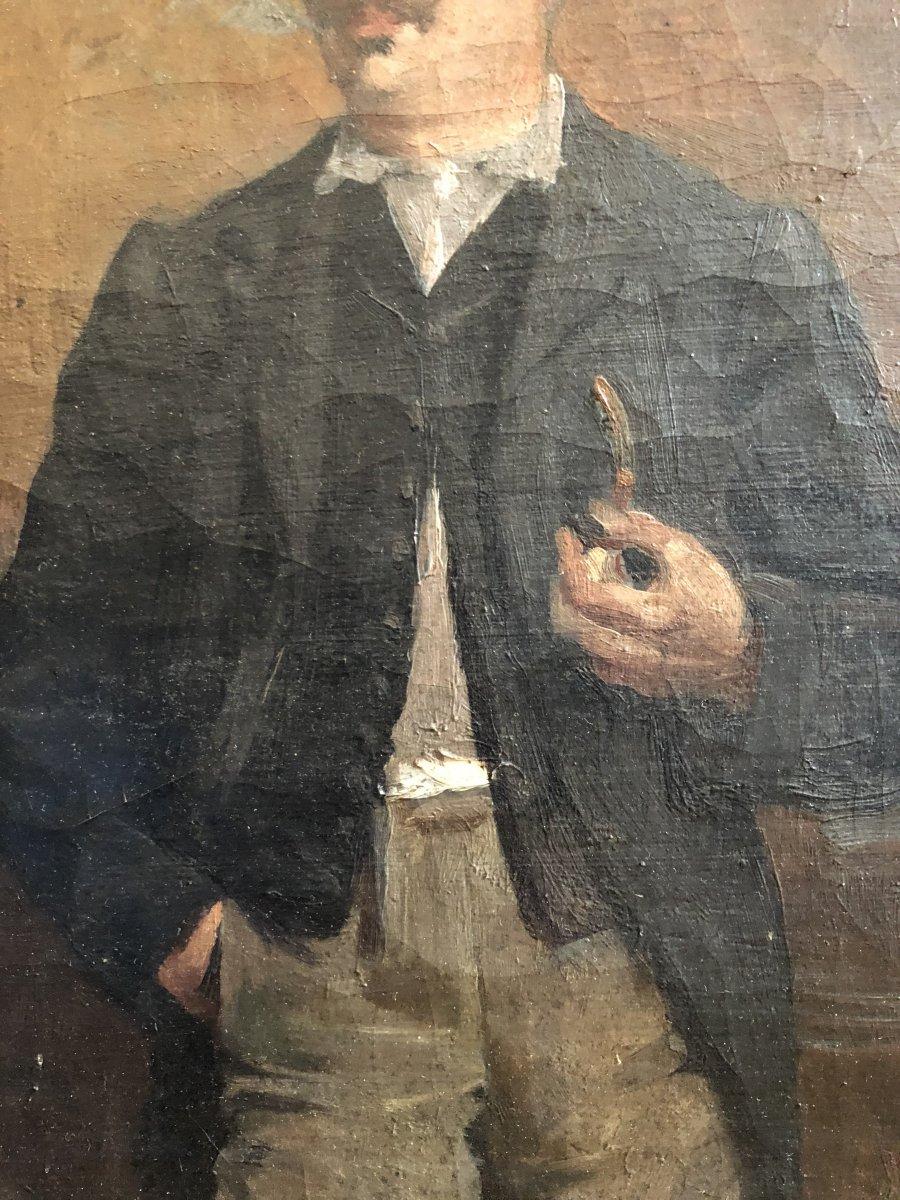 Louis Hierle (1856-1906) - Portrait Of A Russian Man In La Chapka-photo-4