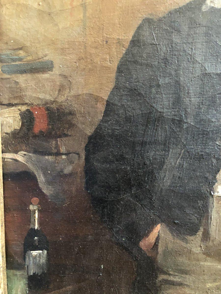 Louis Hierle (1856-1906) - Portrait Of A Russian Man In La Chapka-photo-1