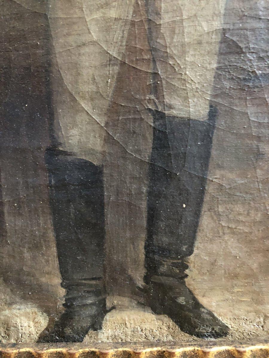 Louis Hierle (1856-1906) - Portrait Of A Russian Man In La Chapka-photo-3