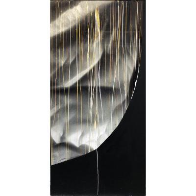 Michel Guéranger (1941) - Peinture Sur Photographie - Abstraction