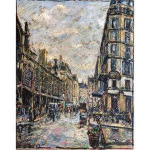 Fernand Laval (1886-1966) - Rue De Paris - Ecole De Paris