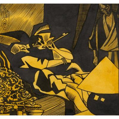 """VAN OFFEL, Stan - """"Le Cabaret des Dockers à Anvers"""", ca. 1920-24"""