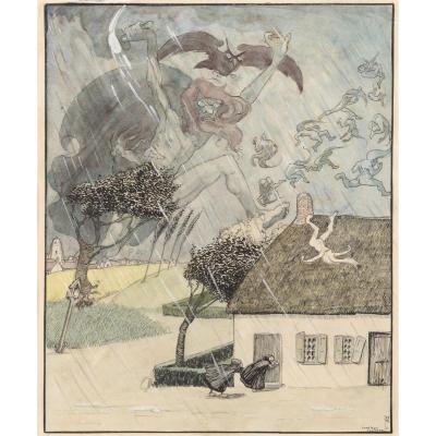"Van Offel, Stan - ""l'orage"", Ca. 1912"