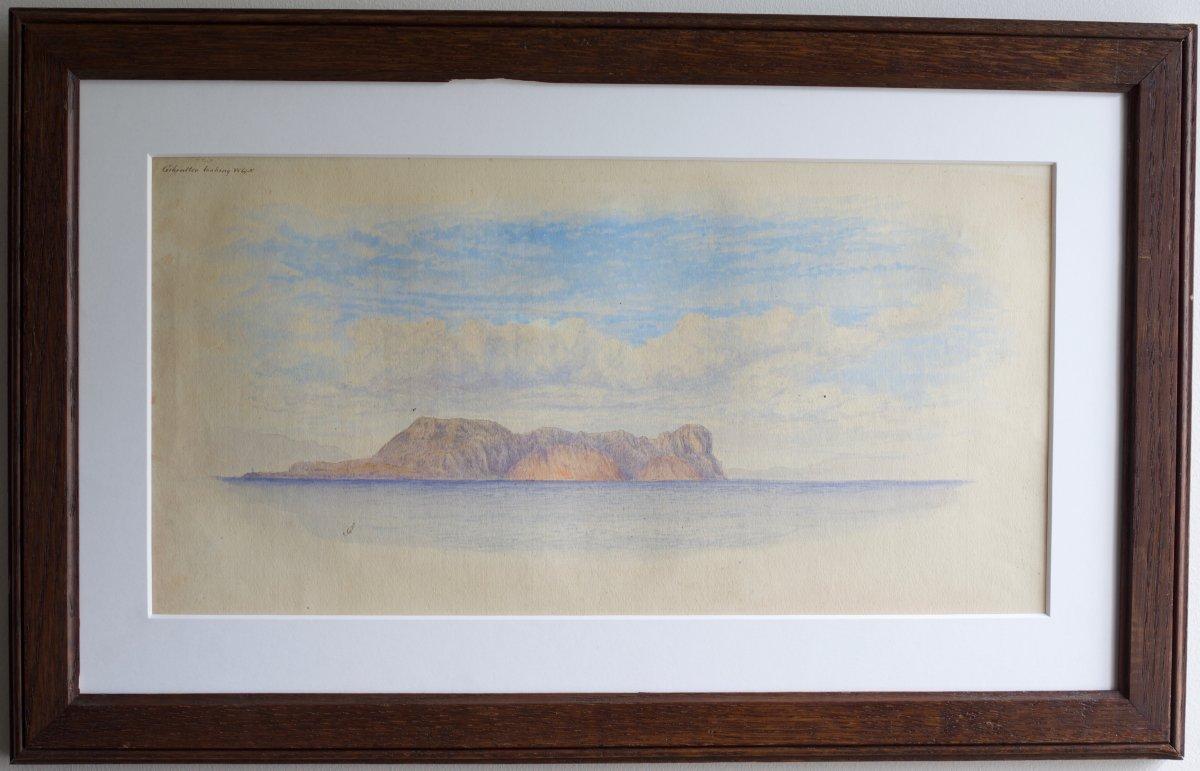 John Gilbert (1817-1894) Aquarelle - Gibraltar
