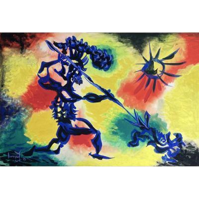 Jean Lurçat (1892-1966) - Les Gladiateurs : Le Défi, 1959