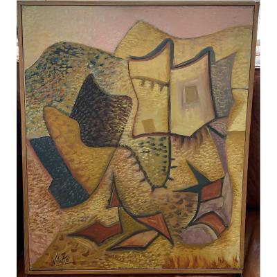Javier Vilato Ruiz (1921-2000) Le Château Fort - Oil On Canvas - 1963