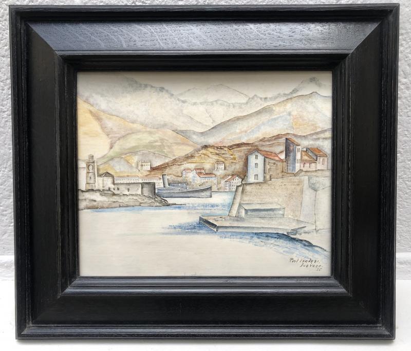 Léopold Survage - Port Vendres - Casein On Panel - 1925-photo-2