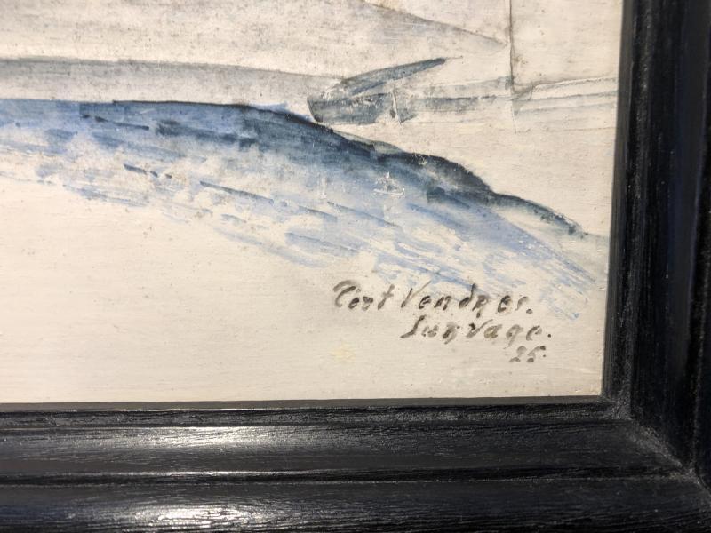 Léopold Survage - Port Vendres - Casein On Panel - 1925-photo-3
